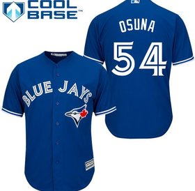 Majestic Majestic Men's Majestic Toronto Blue Jays #54 Roberto Osuna official Blue Alternate size 44