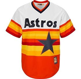 Majestic Majestic Orange Houston Astros Cooperstown Cool Base Team Jersey large
