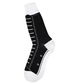 Foot Traffic Mens High Top Sneaker Black Socks