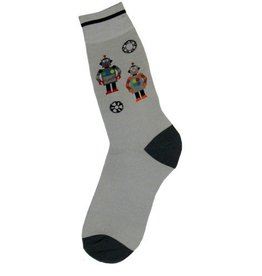 Foot Traffic Mens Robots Socks