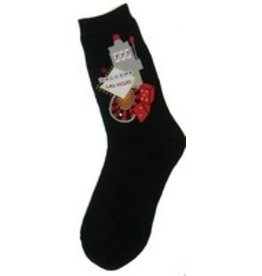 Foot Traffic Womens Las Vagas 2 Slot Machine Socks