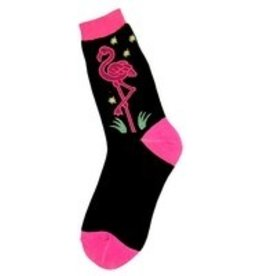 Foot Traffic Womens Neon Flamingo Socks