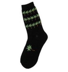Foot Traffic Womens Palm Trees Socks