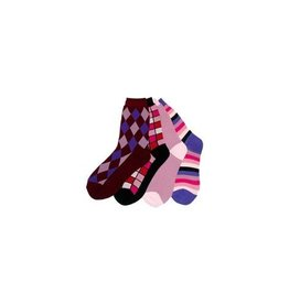 Foot Traffic Panoply Mismatched Socks PNK/PRPL
