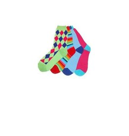 Foot Traffic Panoply Mismatched Socks GRN/BL/RED