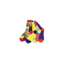 Foot Traffic Panoply Mismatched Socks YLW/PRPL