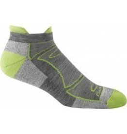 Darn Tough Mens Merino Wool No Show Ultra Light Cushion Green/Gray
