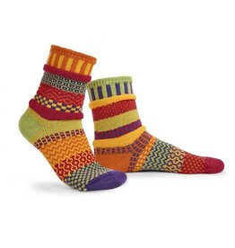 Solmate Solmate Adult Crew Socks Daffodil Medium