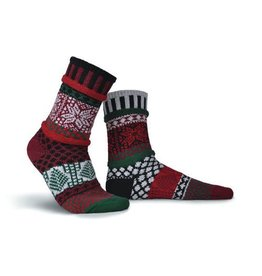 Solmate Solmate Adult Crew Socks Poinsettia Small