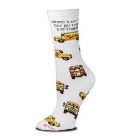 For Bare Feet Womens Wheels on The Bus Socks