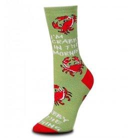 For Bare Feet Womens Crabby Morning Socks