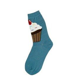 Foot Traffic Womens Big Cupcake Socks