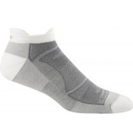Darn Tough Men's Merino Wool No Show Ultra Light Cushion White/Grey