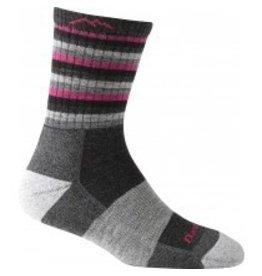 Darn Tough Womens Merino Wool Micro Crew Hot Pink Stripes Cushion