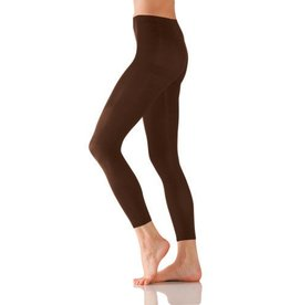Foot Traffic Microfiber Footless Tights Brown O/S