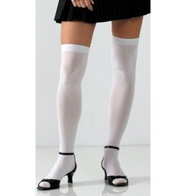 Foot Traffic Solid Opaque Thigh High White