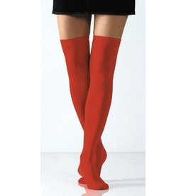 Foot Traffic Solid Opaque Thigh High Red