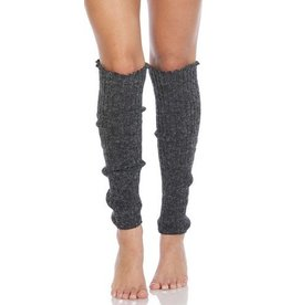 Foot Traffic Cable Knit Leg Warmers Charcoal