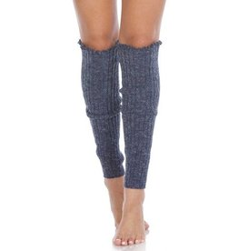 Foot Traffic Cable Knit Leg Warmers Denim