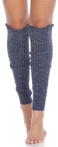 Cable Knit Leg Warmers Denim - The Sox Market