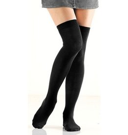 Foot Traffic Black Over-The-Knee Socks