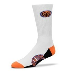 For Bare Feet Mens NBA Team Socks New York Knicks LG