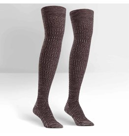Sock it to Me SITM OTK Brown Mixed Rib Socks