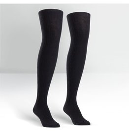 Sock it to Me SITM OTK Black Cable Knit Socks