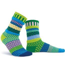 Solmate Solmate Adult Crew Socks Garden Water Lily S