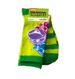 Teenage Mutant Ninja Turtles TMNT Colored Faces Crew Socks