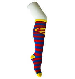 DC Superman Blue And Red Stripe Knee High Socks