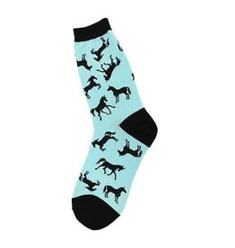 Foot Traffic Womens Horse Silhouette Socks