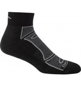 Darn Tough Mens Merino Wool 1/4 Top Ultra Light Cushion Black/Gray