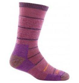 Darn Tough Womens Merino Wool Summit Stripe Boot Cushion Violet
