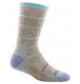 Darn Tough Womens Merino Wool Summit Stripe Boot Cushion Pebbles
