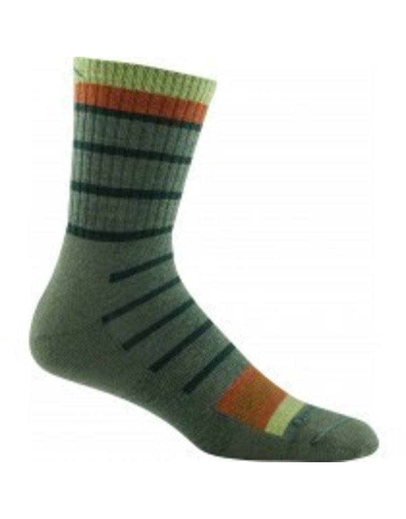 Darn Tough Mens Merino Wool Micro Crew Sock, Cushion Bottom, Olive