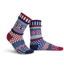 Solmate Solmate Adult Crew Socks Stars and Stripes Small