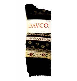 Davco Funky Fairisle Scalloped Top OTK BLK