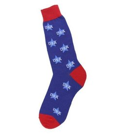 Foot Traffic Mens USA Stars Socks