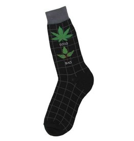 Foot Traffic Mens Good/Bad Weed Socks