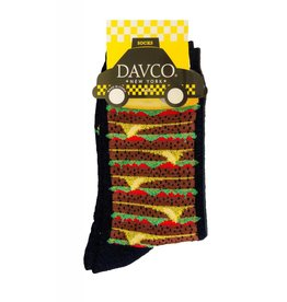 Davco Cheeseburger Socsk Black
