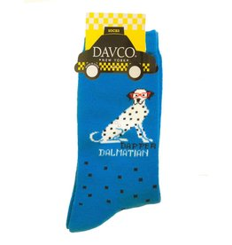 Davco Women's Dapper Dalmatian Socks Electric Blue