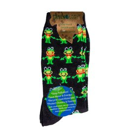 Davco Women's Frog's Party Greenology 3/$12 Black