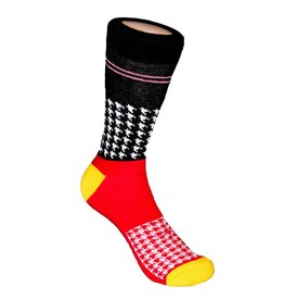 Davco Houndstooth Race Black Socks
