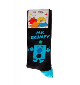 World of Hosiery Mens Mr. Grumpy Crew Socks