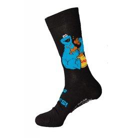 """Sesame Street Sesame St. Mens Crew 10-13 Cookie Monster 'King Of Cookies"""" 3/$10"""