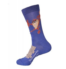 World of Hosiery Looney Tunes Mens Crew 10-13 Taz Scare 3/$10