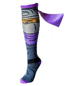 Teenage Mutant Ninja Turtles TMNT Shredder Knee High Socks With Cape