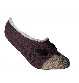 Womens Animal Face Slippers Brown Dog 3/$15