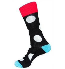Davco Mens Daring Dots Dress Socks Black
